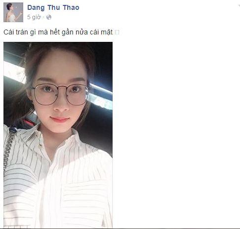 Facebook sao Việt: Khánh Thi chia sẻ cảm xúc về tình cũ 6