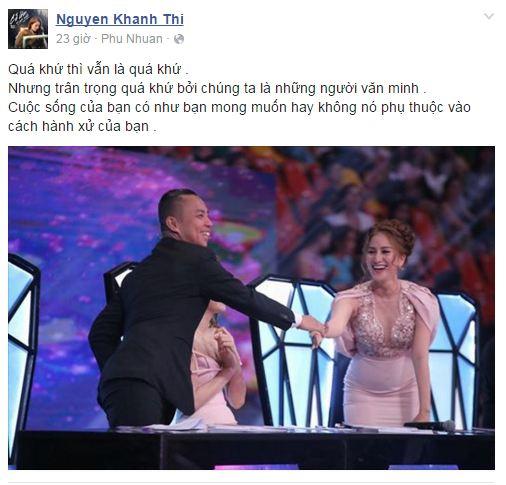 Facebook sao Việt: Khánh Thi chia sẻ cảm xúc về tình cũ 1