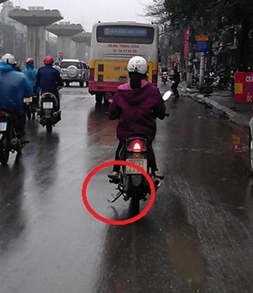 Hình ảnh Quên gạt chân chống xe sẽ bị phạt 3 triệu đồng số 1