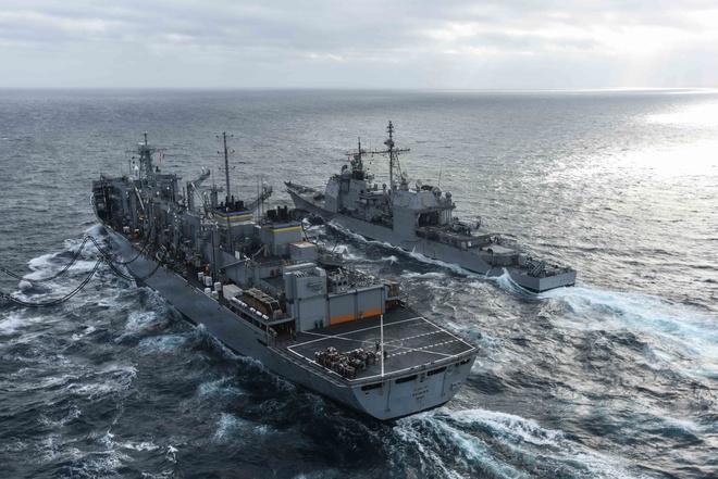 Chùm ảnh: Nhóm tàu sân bay Mỹ tuần tra trên Biển Đông 2