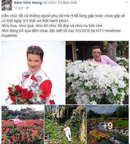 Facebook sao Việt: Những lời chúc mừng ngày 8/3 của sao Việt nhé 2