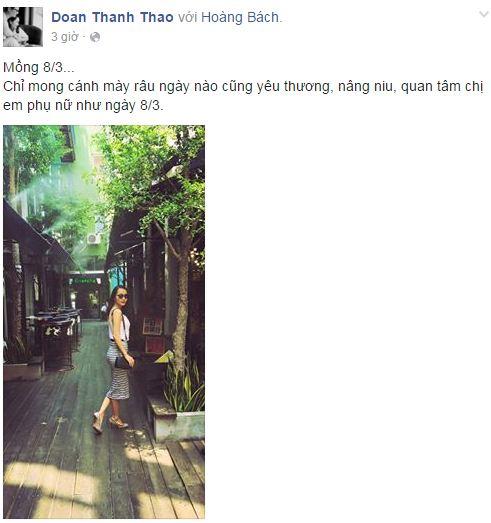 Facebook sao Việt: Những lời chúc mừng ngày 8/3 của sao Việt nhé 5
