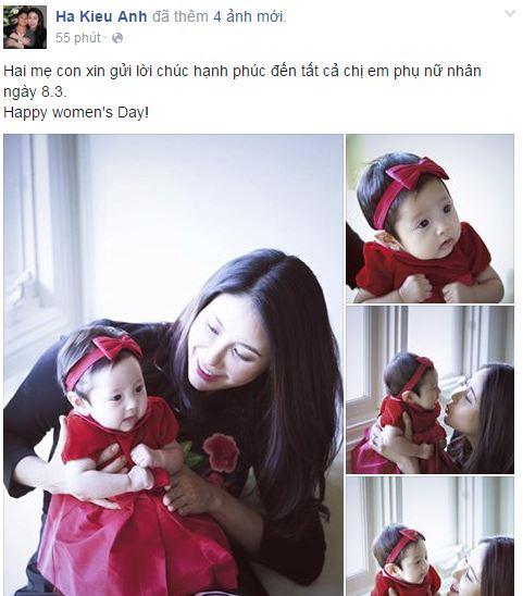 Facebook sao Việt: Những lời chúc mừng ngày 8/3 của sao Việt nhé 7