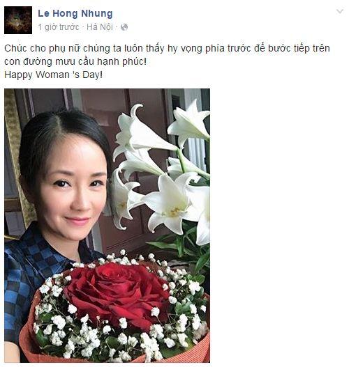 Facebook sao Việt: Những lời chúc mừng ngày 8/3 của sao Việt nhé 8