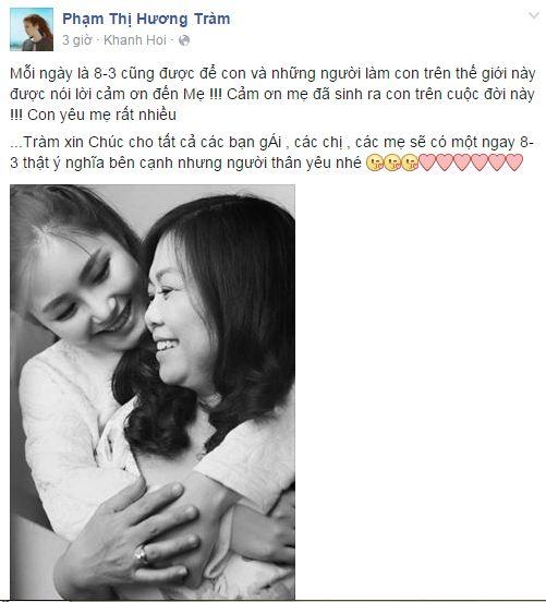 Facebook sao Việt: Những lời chúc mừng ngày 8/3 của sao Việt nhé 10