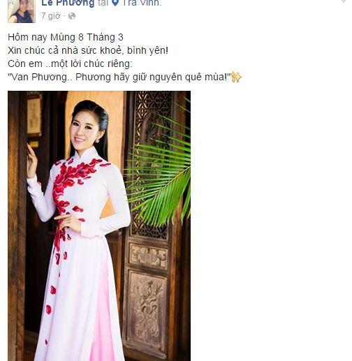 Facebook sao Việt: Những lời chúc mừng ngày 8/3 của sao Việt nhé 12
