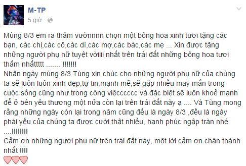 Facebook sao Việt: Những lời chúc mừng ngày 8/3 của sao Việt nhé 18