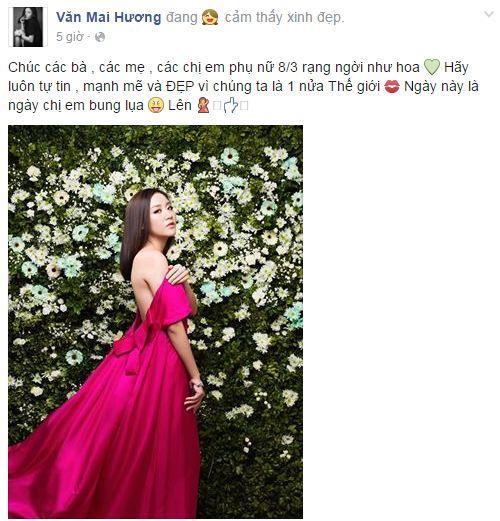 Facebook sao Việt: Những lời chúc mừng ngày 8/3 của sao Việt nhé 24