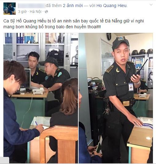 Sự thật Hồ Quang Hiếu bị bắt giữ vì mang bom ở sân bay  1