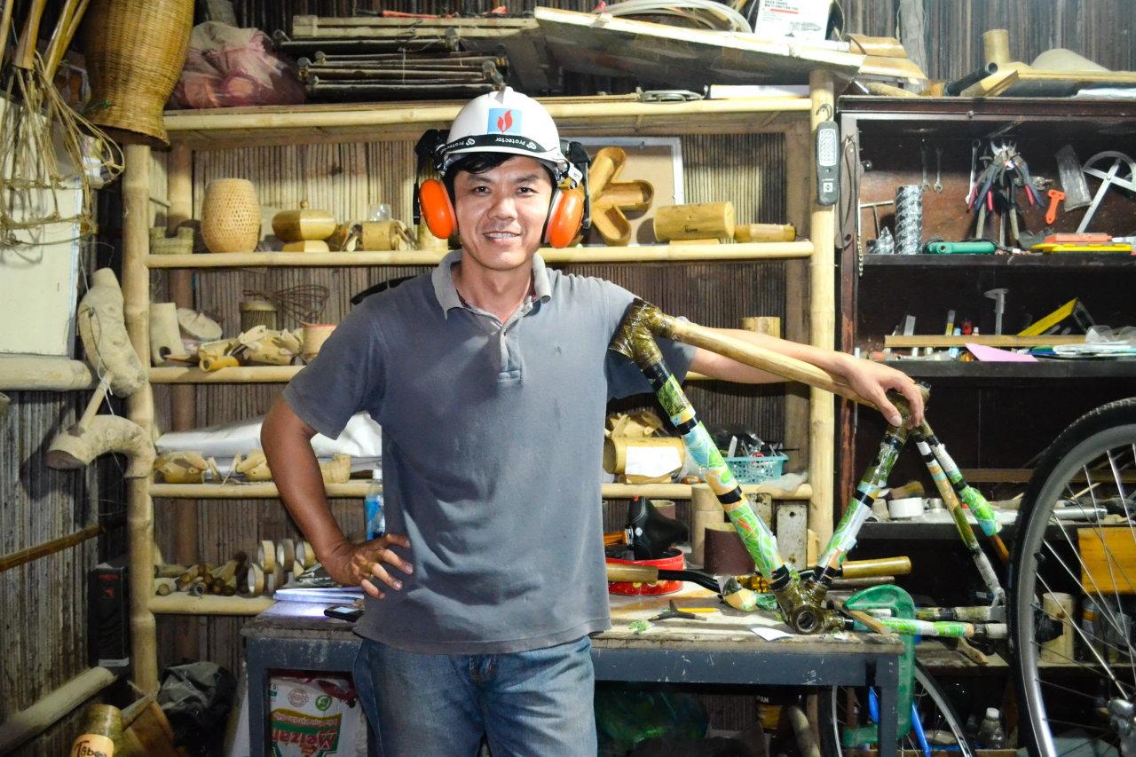 Trăm triệu một chiếc xe đạp tre Việt xuất khẩu sang trời Tây 1