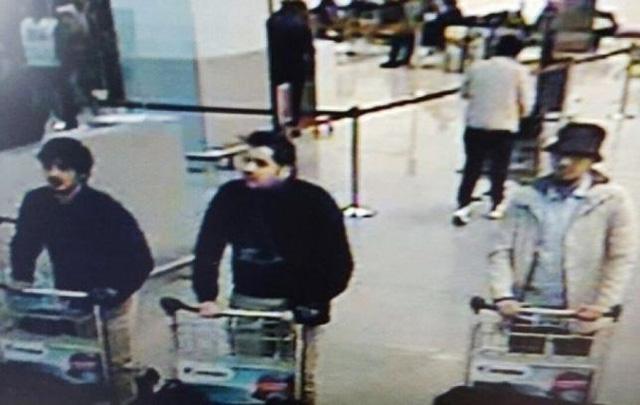 Công bố hình ảnh 3 nghi phạm đánh bom khủng bố Brussels  1