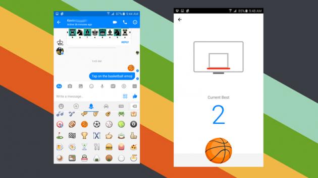 Giải trí với game bóng rổ vui nhộn trên Facebook Messenger 1