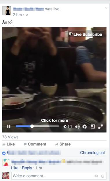 Tính năng Live được Facebook mở cho người dùng Việt 2