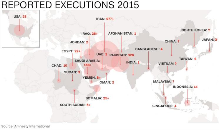 Số án tử hình tăng vọt, Trung Quốc vẫn đứng đầu 1
