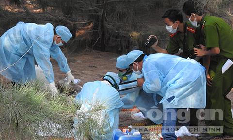 Khám nghiệm hiện trường vụ bắt cóc trẻ em rồi sát hại chấn động Bình Thuận 3