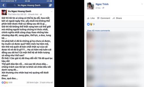 Ngọc Trinh công khai loạt mỹ nhân Việt like status mạt sát mình 4
