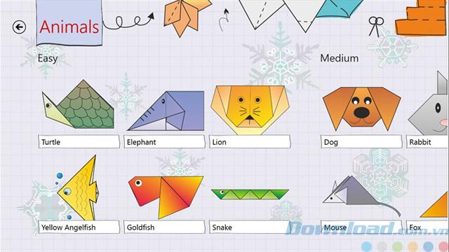 Hình ảnh Origami Magic - Ứng dụng hướng dẫn gấp một số hình Origami phức tạp số 2