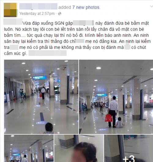 Phẫn nộ cảnh mẹ dửng dưng để con bị đánh, kéo lê tại sân bay Tân Sơn Nhất 1