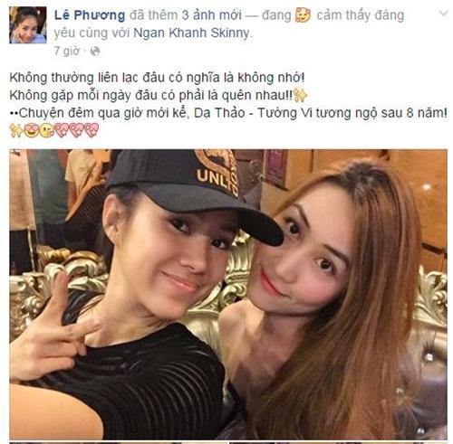 Facebook sao Việt: Minh Hằng tình cảm bên Quý Bình 8