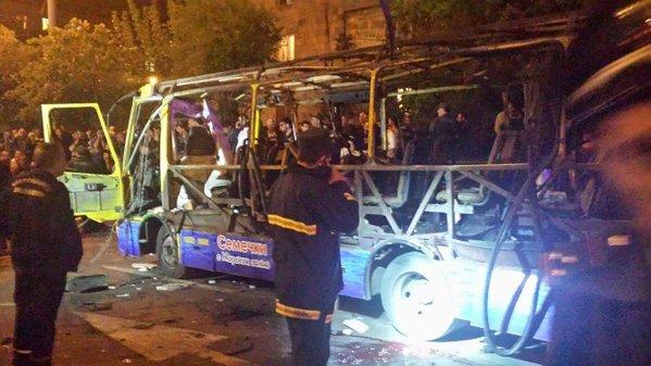 Armenia: Xe bus phát nổ, 9 người thương vong 1