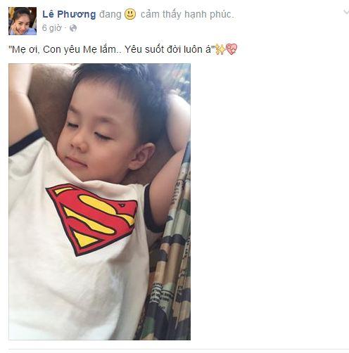 Facebook sao Việt: Tuấn Hưng làm ông bố đảm đang khi thay vợ chăm sóc con 4