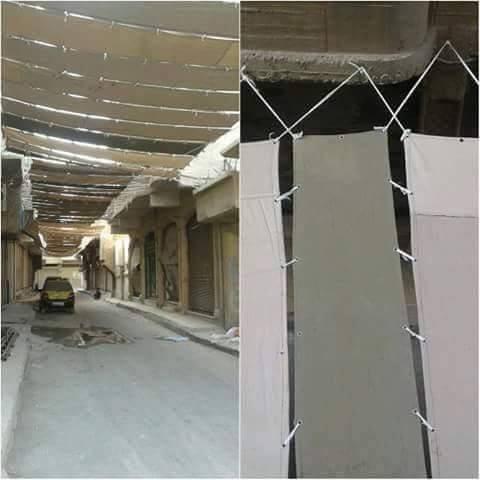 IS dùng vải che toàn bộ đường phố Raqqa để trốn do thám 1