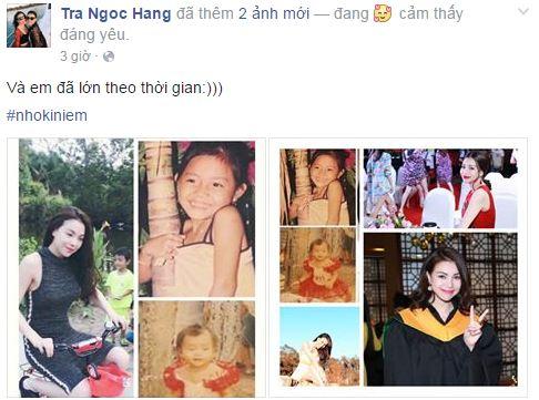 Facebook sao Việt: Trà Ngọc Hằng khoe ảnh