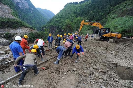 Lở đất tại Trung Quốc, 35 công nhân mất tích 5
