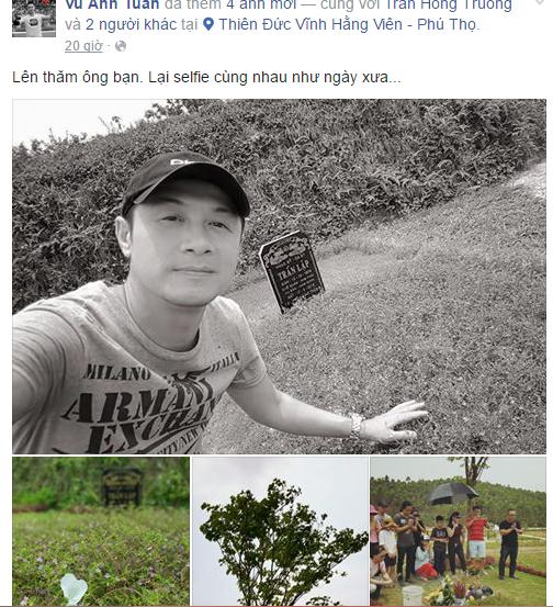 MC Anh Tuấn đăng ảnh thăm mộ nhạc sĩ Trần Lập 1