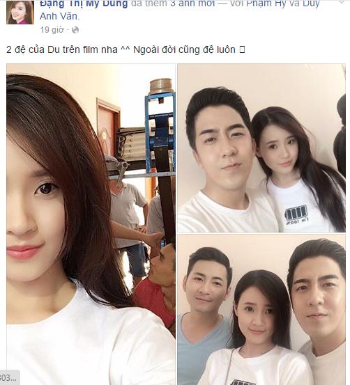 Facebook sao: Hoài Linh hào hứng selfie cùng con nuôi và con ruột 7