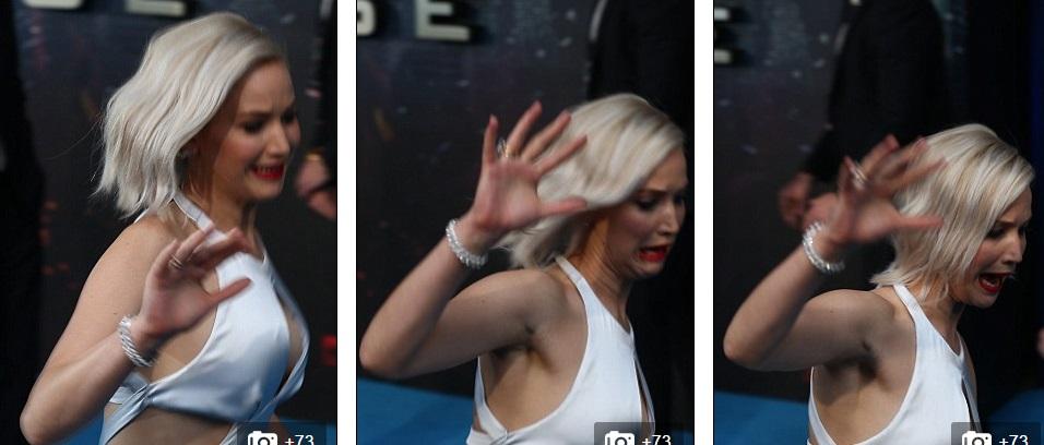 Jennifer Lawrence đỏ mặt vì sự cố trước hàng trăm ống kính 1