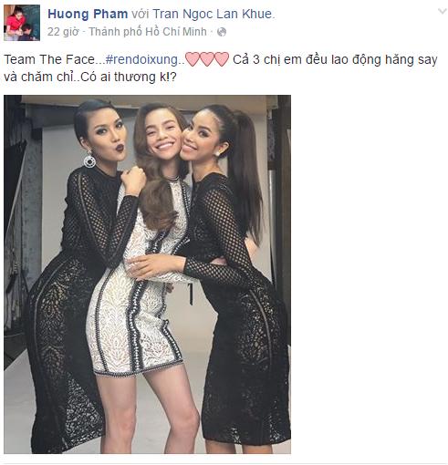Facebook sao Việt: Lan Khuê, Hà Hồ, Phạm Hương gây sốt khi tụ hội trong buổi chụp hình 1