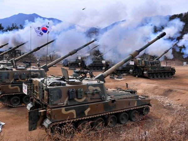 Hàn Quốc tập trận pháo binh gần biên giới Triều Tiên 3