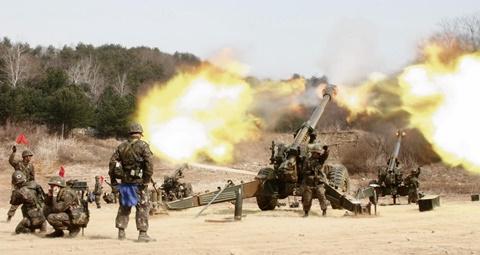 Hàn Quốc tập trận pháo binh gần biên giới Triều Tiên 2