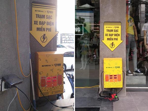 trạm sạc xe đạp điện tại hà nội