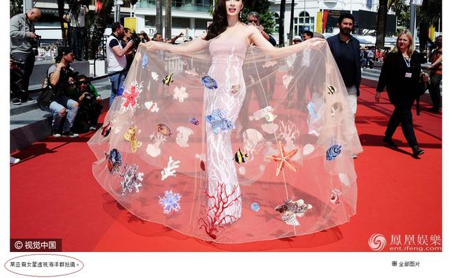 Váy đại dương của Angela Phương Trinh được truyền thông nước ngoài khen ngợi  3