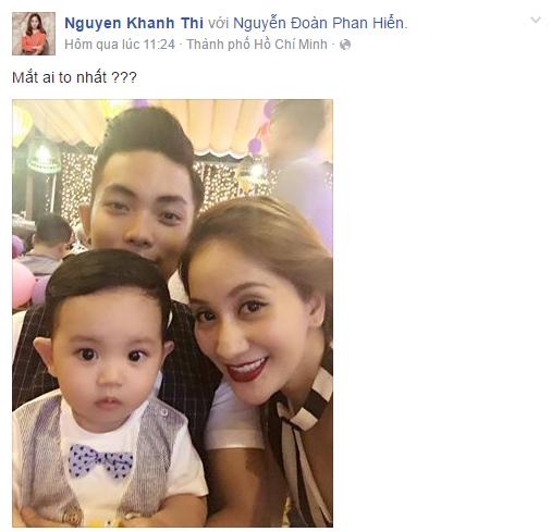 Facebook sao Việt: Khánh Thi khoe ảnh cả nhà hạnh phúc bên nhau 1