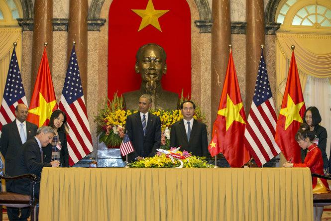 Tổng thống Mỹ Obama chứng kiến Vietjet ký HĐ mua 100 máy bay Boeing 1