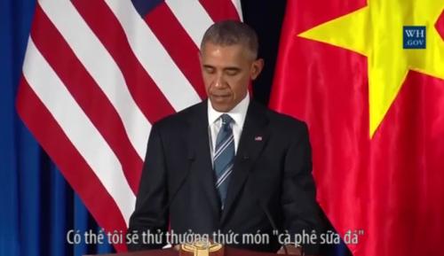 Video: Tổng thống Obama muốn thưởng thức 'cà phê sữa đá' Việt Nam 1