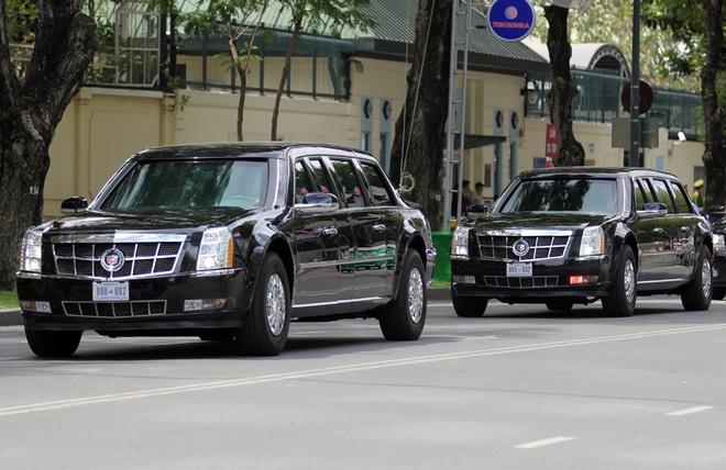 Siêu xe 'quái thú' ra sân bay Tân Sơn Nhất đón Tổng thống Mỹ Obama 1