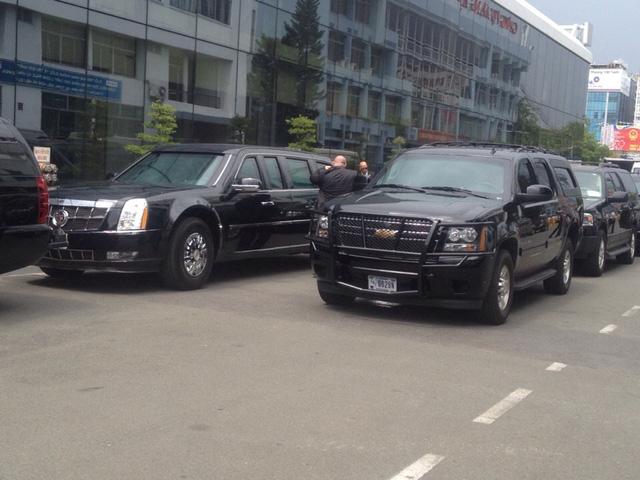 Siêu xe 'quái thú' ra sân bay Tân Sơn Nhất đón Tổng thống Mỹ Obama 3