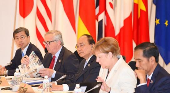 Thủ tướng Nguyễn Xuân Phúc nêu vấn đề Biển Đông tại Hội nghị G7 mở rộng 1