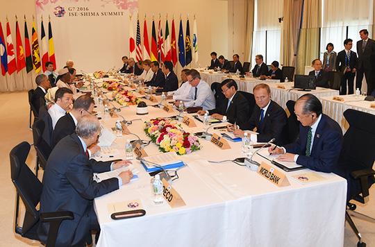 Thủ tướng Nguyễn Xuân Phúc nêu vấn đề Biển Đông tại Hội nghị G7 mở rộng 3