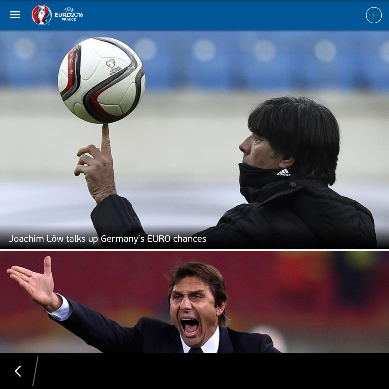 Hình ảnh UEFA EURO 2016 Official App Ứng dụng giúp cập nhật thông tin về Euro 2016 số 2