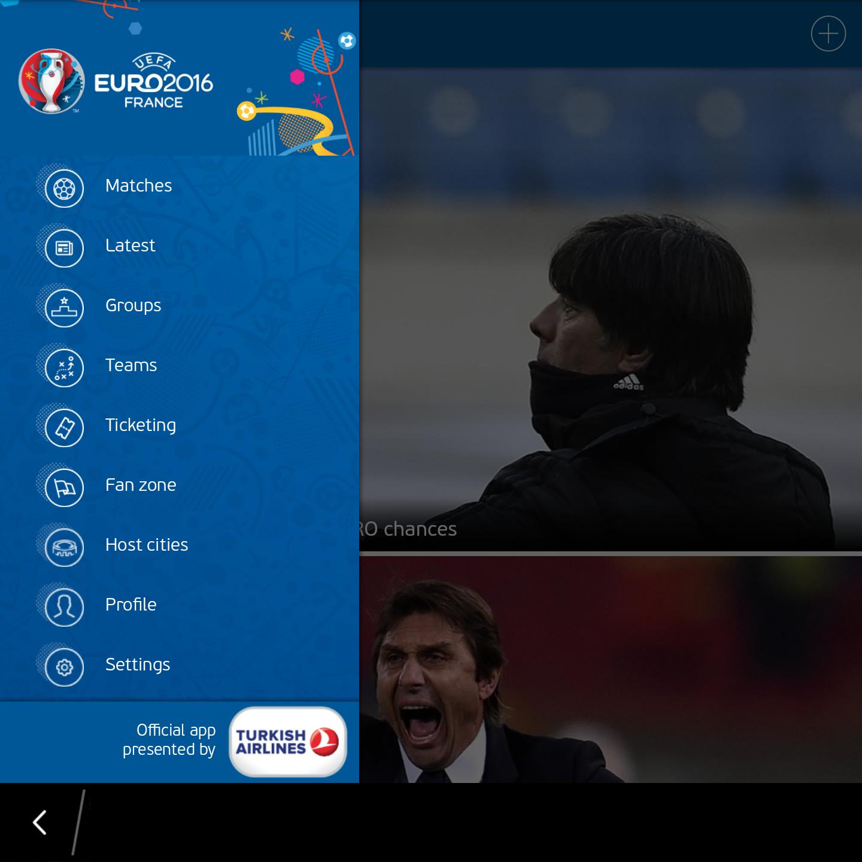 'UEFA EURO 2016 Official App' Ứng dụng giúp cập nhật thông tin về Euro 2016 3