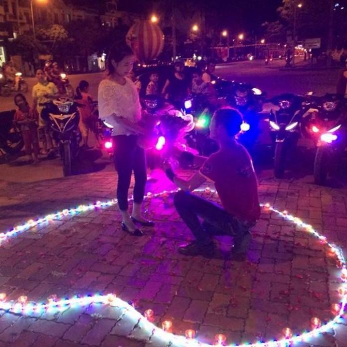 Màn tỏ tình lãng mạn bằng 30 chiếc xe Exciter ở Bắc Giang gây sốt cộng đồng mạng 1