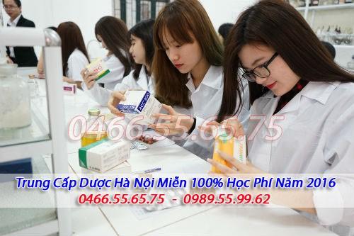 Miễn 100\% học phí Trung cấp Dược Hà Nội năm 2016 1