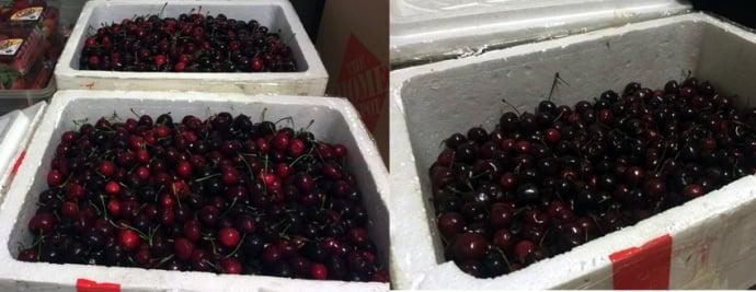 Cảng hàng không Nội Bài lên tiếng vụ thùng cherry của khách