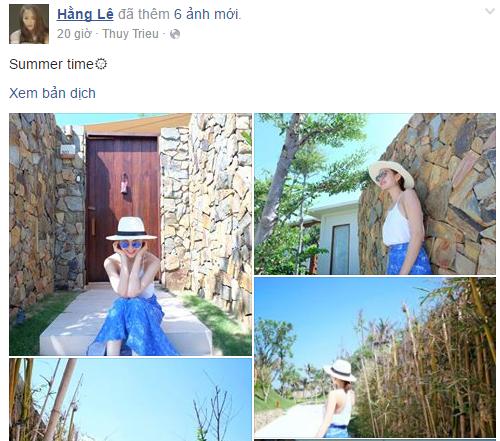 Facebook sao Việt: Angela Phương Trinh tươi tắn sau ồn ào với Ngô Thanh Vân 8