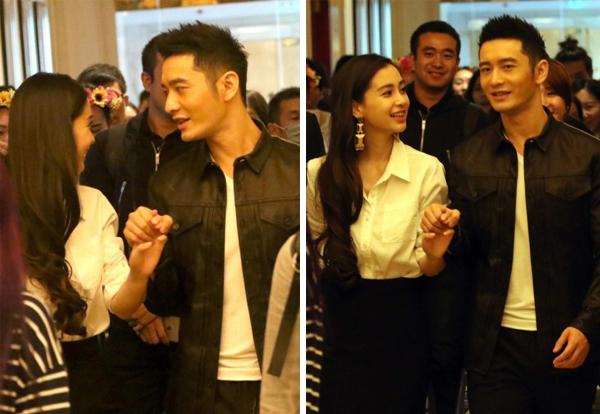 Huỳnh Hiểu Minh nắm chặt tay Angelababy đi sự kiện sau 1 năm kết hôn 3